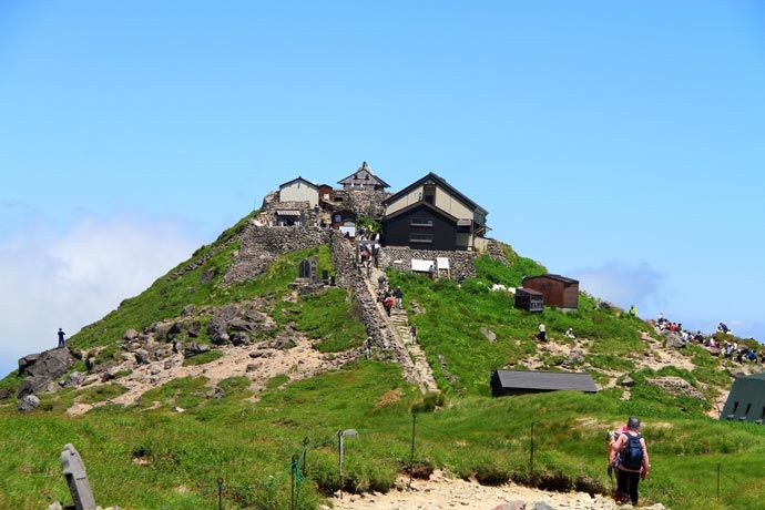Gassan Shrine at the peak of Mt. Gassan    Mysteries of Natural Worship on the Three Mountains of Dewa in Yamagata Prefecture #Japan #nature #VisitJapan