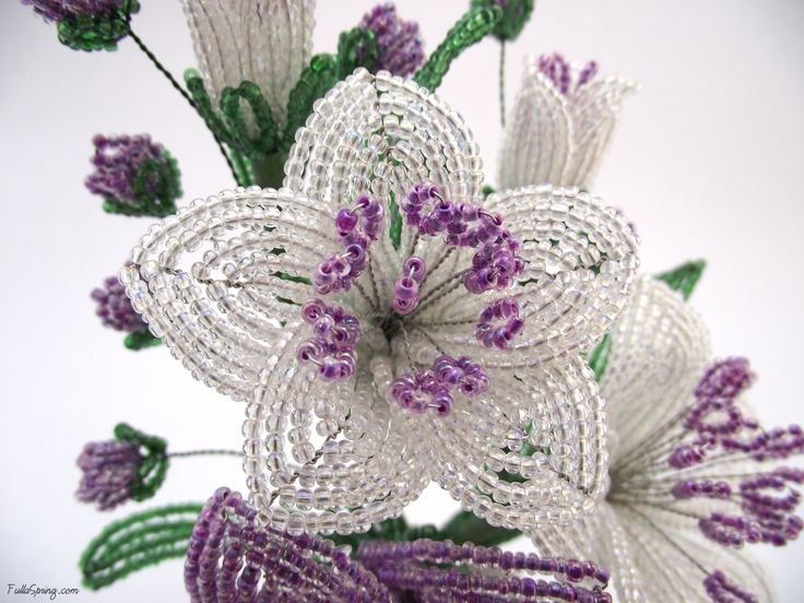 French beaded flower                                                                                                                                                      More