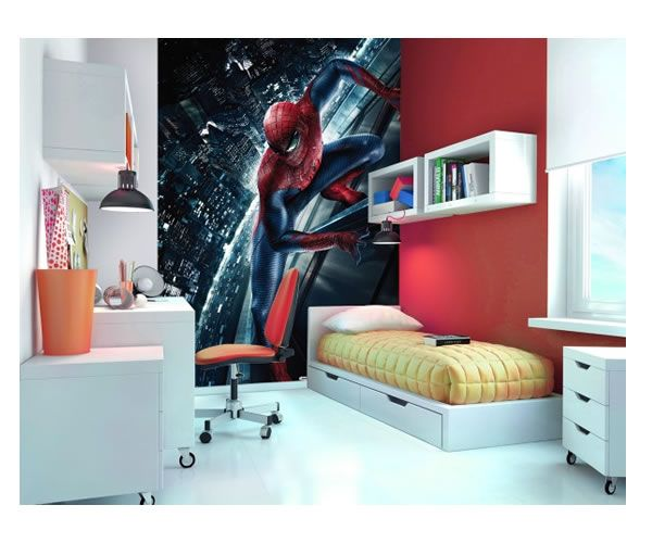 The Amazing Spiderman Official Wall Mural Childrens Bedroom Decorating Idea