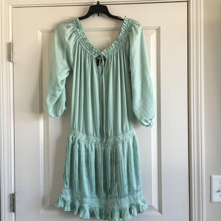 New Victoria's Secret Mint Green Stylish Classy Dress Ruffle Bottom Extra Small #VictoriasSecret