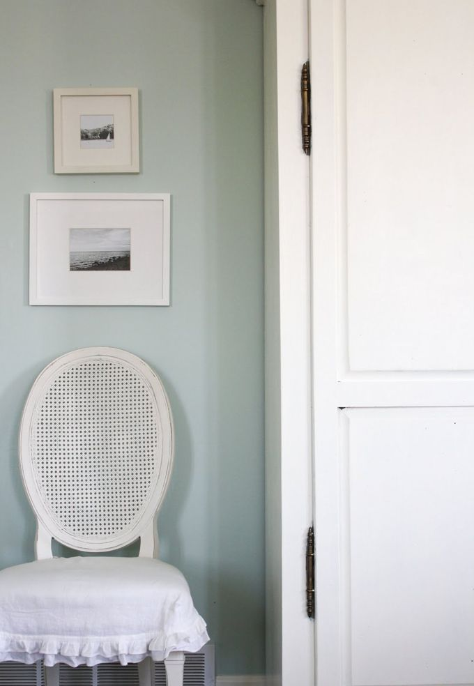 House Of Turquoise Whitewashed Tiffany Bedroom Wall Color Is Is Benjamin Moore S Palladian Blue