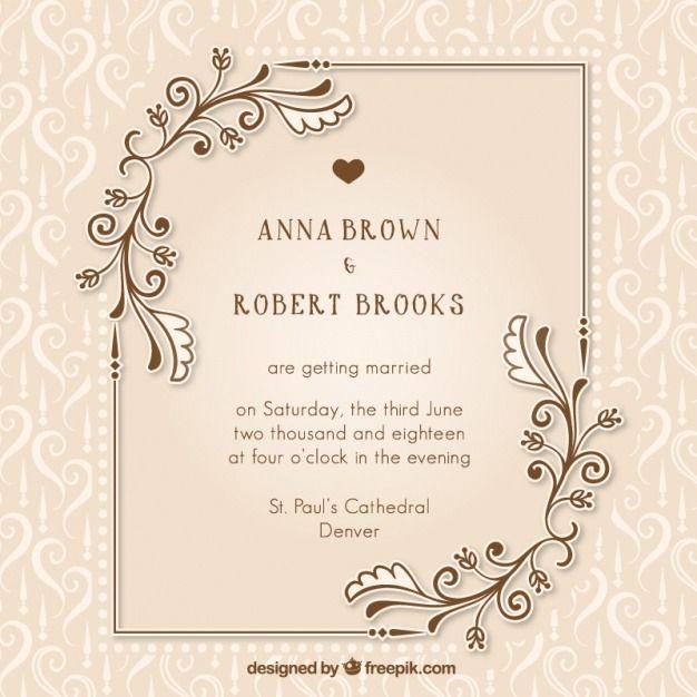 Wedding Invitation Vector Templates Free Download With Images Wedding Invitation Vector Wedding Invitation Card Template Wedding Invitation Card Design