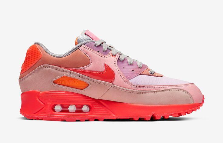 $49.99 Men's Nike Air Max 90 React Shoes Pink/Candy Red/Orange ...