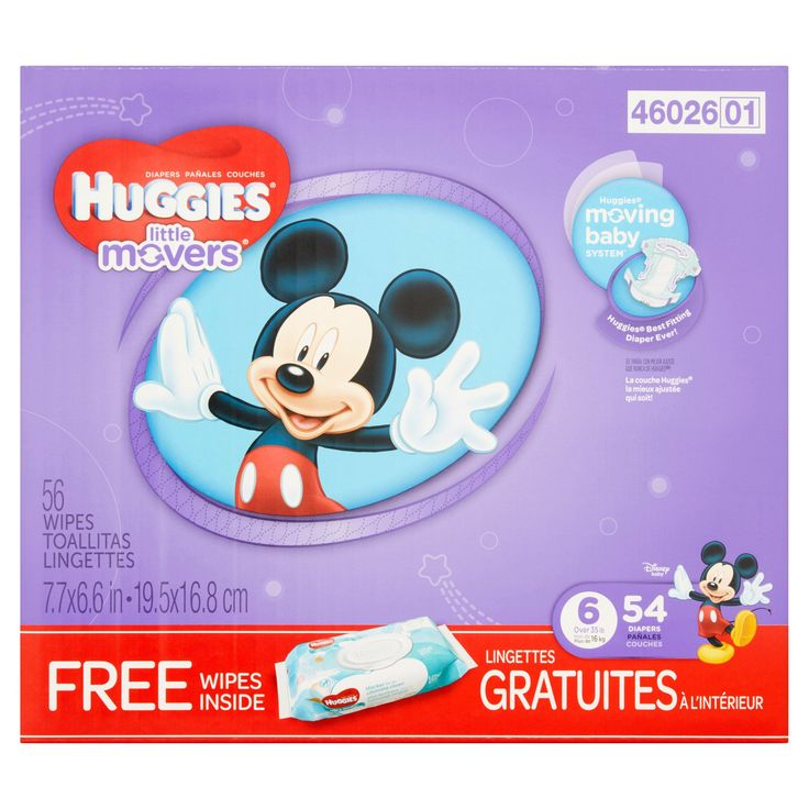 Huggies Little Movers Disney Baby Diapers Stage 6 Over 35 lb, 54 count