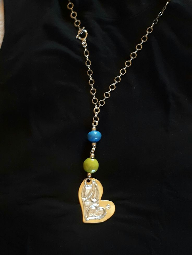 100 visualizzazioni ...su #Etsy: LeBoncine bijoux by alessandra bonci #etsy #gioielli #collane #cuore #turchese #verde #riciclo #catena #amore http://etsy.me/2iKpxRf