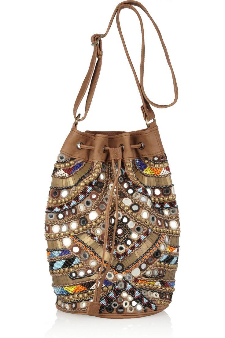 Orelia embellished shoulder bag by Antik Batik