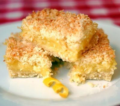 Lemon Coconut Squares: A must-try.