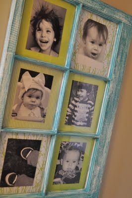 Old window pane revamp into a picture frame - a great way to use the window from the old high school that I've been hanging onto for years now! @Amber Ermel Willis