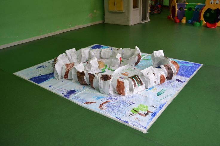 A special Treasure Island! 3-5 years, at school.
