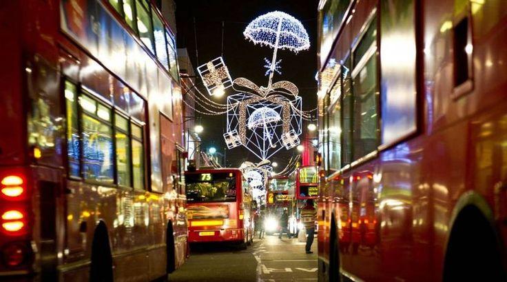 праздничные огни в Лондоне! #excll #дизайнинтерьера #решения