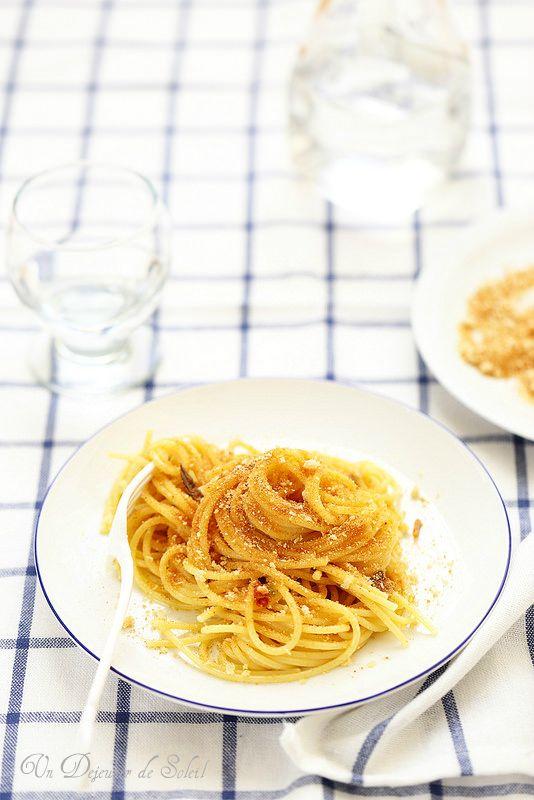 Un dejeuner de soleil: Pasta con la mollica (pâtes à la chapelure comme a...