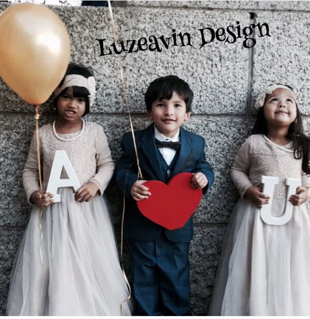 Flower Girls dresses made and design by Luzeavin Design