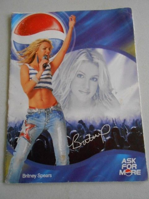 OLD CYPRUS GREECE BRITNEY SPEARS PEPSI PROMO EXERCISE BOOK EMPTY
