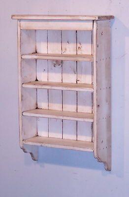 Handmade Rustic Primitive Spice Rack - Color Choice | eBay