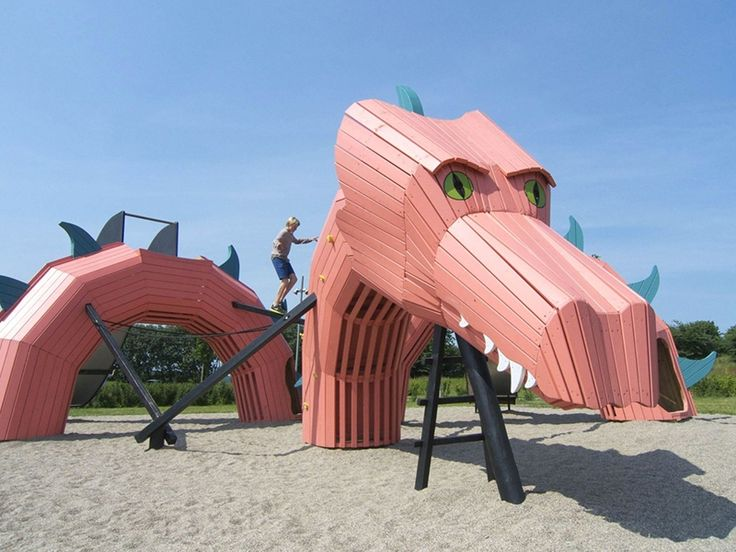 Designers, take note: here's what children's playgrounds look like in Denmark.