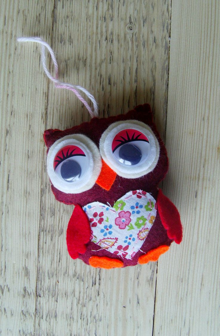 Felt Owl Ornament, Christmas decoration, Home Decor, nursery room decoration by craftoholicsoul on Etsy