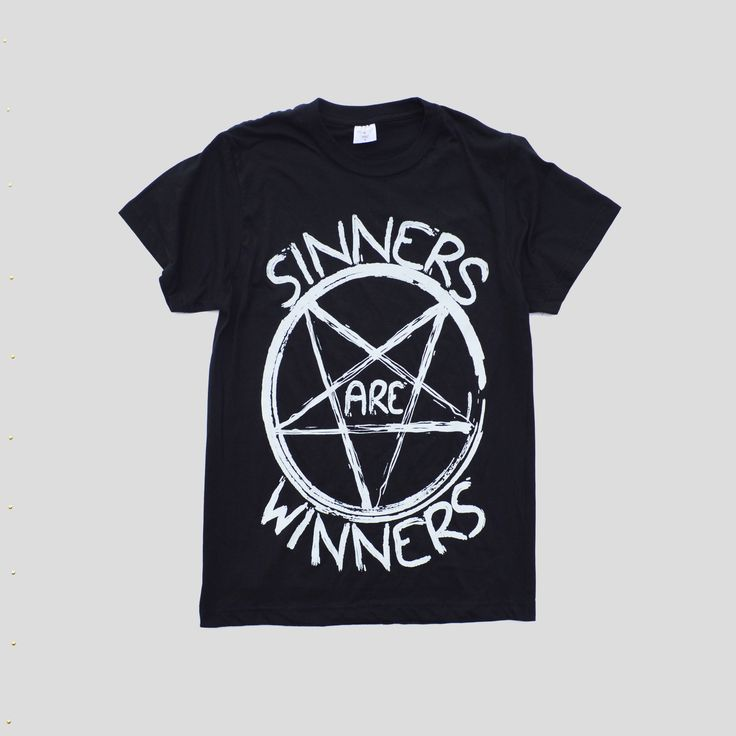 Excited to share the latest addition to my #etsy shop: Satanic Pentagram Hipster Sinners Are Winners Indie Satanic Inverted Cross Hype Swag Men Women Unisex T-shirt Different Alternative http://etsy.me/2CzUED1 #clothing #shirt #black #white #gothic #satanictshirt #past