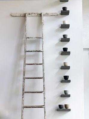 ladder + : Decor, Interior, Ideas, Inspiration, Ladders, Shelves, Ceramic, Display, Design