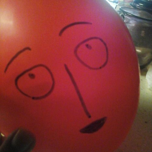I can literally draw a plain face on a balloon and call it ...
