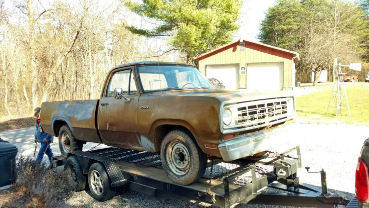 I grew up around my dad's Super Bees and Roadrunners but could never afford one myself. But I was recently in the market for a cheap truck project so meet my first Mopar! 1974 Dodge D200 #mopar #Dodge #hemi #Charger #musclecar #Challenger #Autos #musclecars
