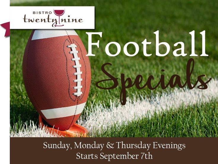 Join us tonight for Sunday night football! Open from 5-9pm. Great food, great service at a great place with great football!
