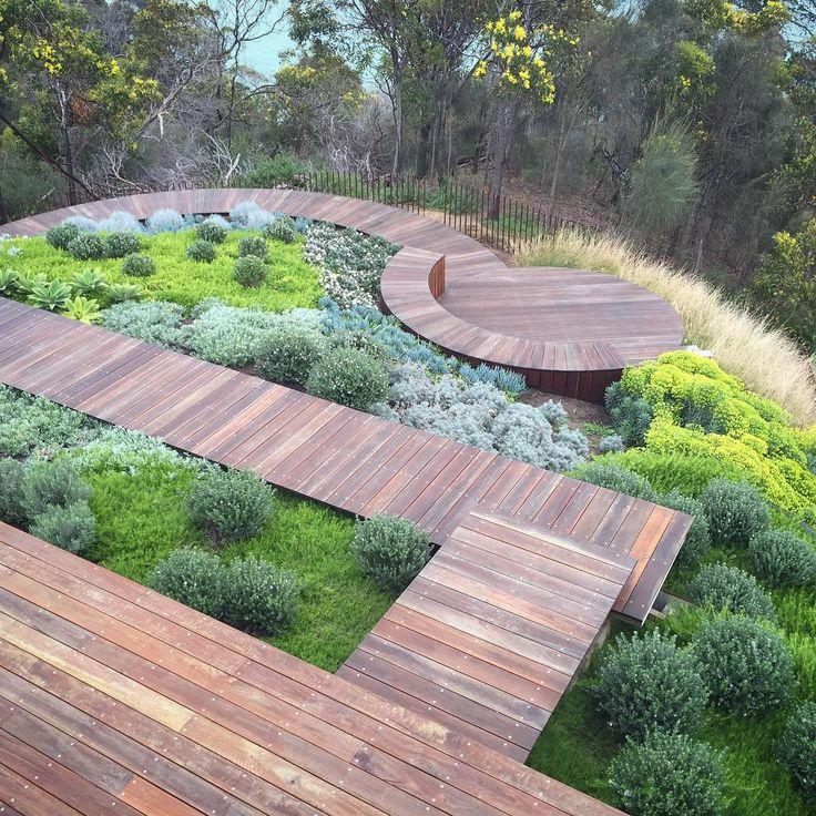 planting progress at dromana   nathanburkettdesign  boardwalk  coastalgarden  dromana  decking