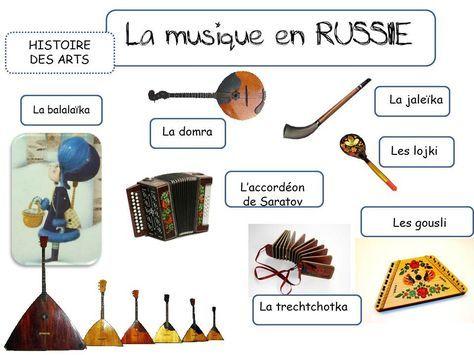 MUSIQUE - instruments russes
