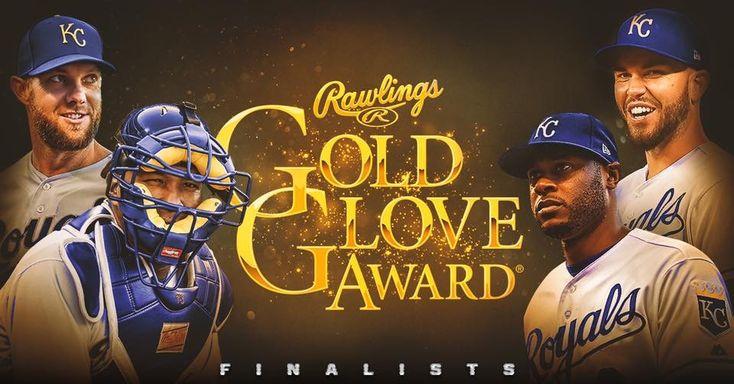 Congratulations to Alex Gordon, Lorenzo Cain, Salvador Perez and Eric Hosmer on being named 2017 #GoldGlove Award Finalists! #RaisedRoyal