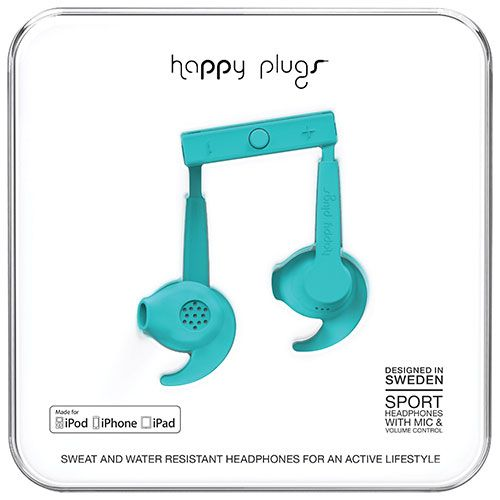 Happy Plugs Sport In-Ear Noise Cancelling Headphones - Turquiose