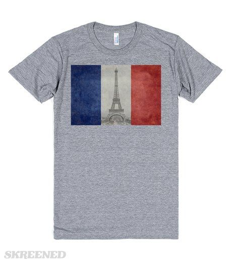 Vintage Paris | The wonderful French flag given a retro - vintage feel, with one of the worlds most iconic pieces of architecture inserted center stage. We will always have Paris - the city of Love - Amour  #Skreened #PARIS