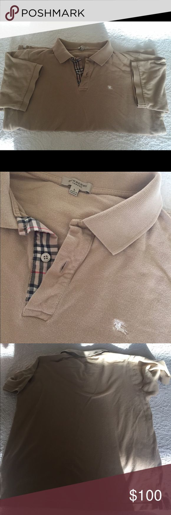 Men's Burberry Polo Burberry polo for men still in great condition! Burberry Shirts Polos