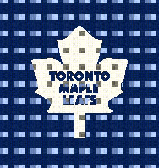 $5 - Toronto Maple Leafs NHL Hockey Crochet Afghan Pattern by AngelicCrochetDesign on Etsy