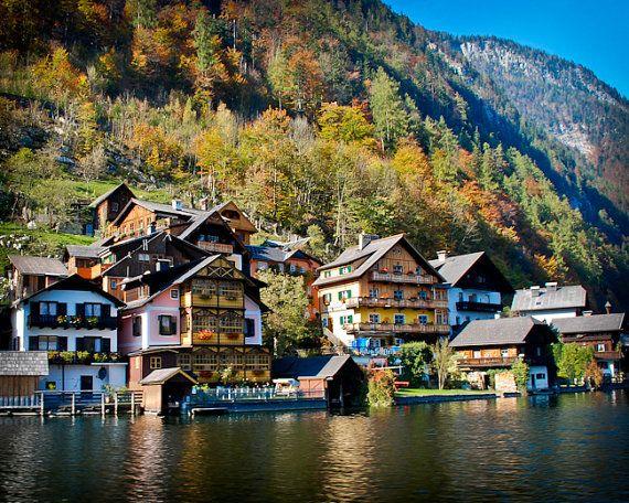 Hallstatt, Austria Alps Mountain Lake