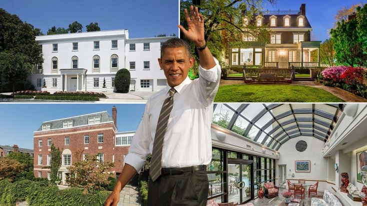 In four short months, President Obama will vacate the White House. Here's a list of homes on the market near casa Obama for a brush with presidential power.