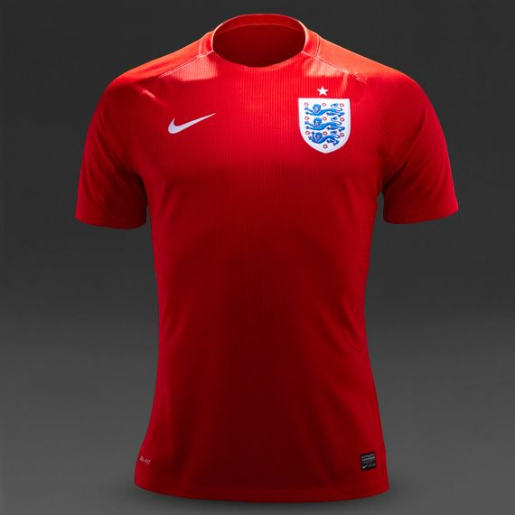 Nike England SS Away Match Shirt - Red/White