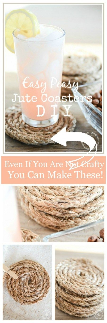JUTE COASTER DIY- EASY TO MAKE ORGANIC COASTERS