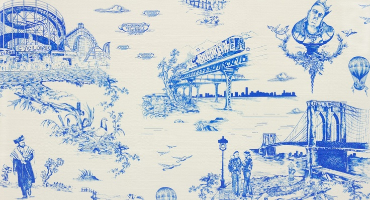 Brooklyn Toile by Flavor paper