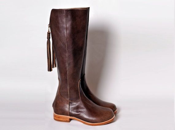 WANDERLUST. Riding boots / Womens boots / leather boots women / brown leather boots. Sizes US 4-13. Available in different leather colors.