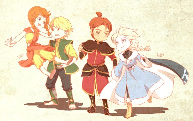"Crossover between ""Frozen"" and ""Avatar: The Last Airbender"" - Art by Ysue-chan"