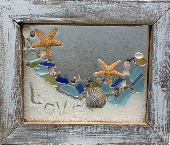 Beach Glass Love message in the sand. by beachcreation on Etsy