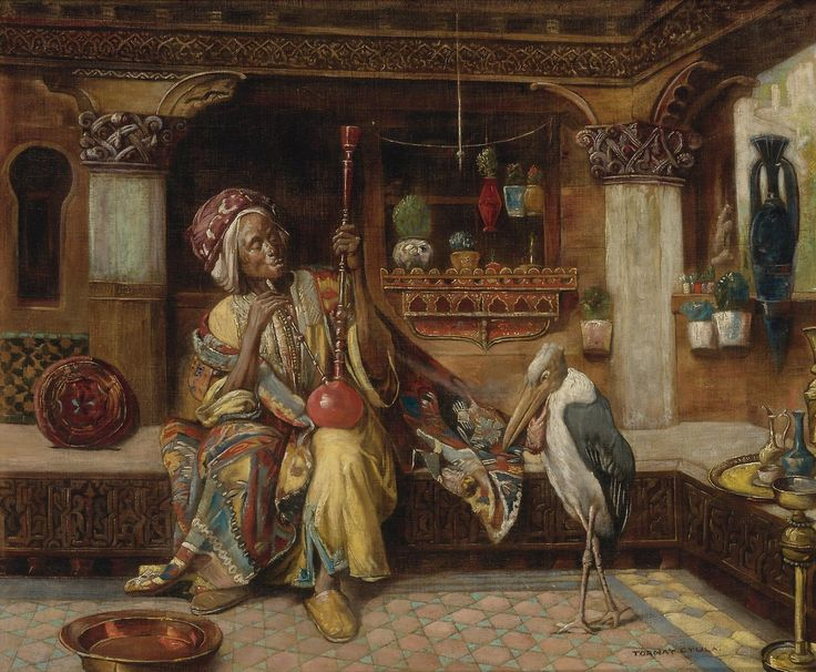 GYULA TORNAI / Smoker with Hookah and Marabout