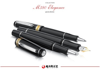 """M380: due nuove versioni per un modello di successo    Marlen lancia due nuove versioni della M380 a conferma del successo di questo modello dalle linee semplici ma non scontate. Le nuove """"Esagonale"""" e """"Elegance"""", disponibili """"all black"""", mantengono le forme delle precedenti M380 con la novità di presentare sul fusto e sul cappuccio delle leggere incisioni diagonali eseguite con taglio al diamante."""