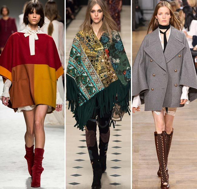 Fall/ Winter 2015-2016 Fashion Trends: Capes and Ponchos