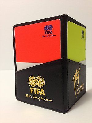 Soccer Referee Wallet with Red Card and Yellow Card