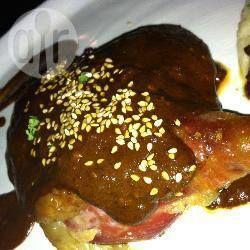 Foto de la receta: Mole dulce y rápido con pollo