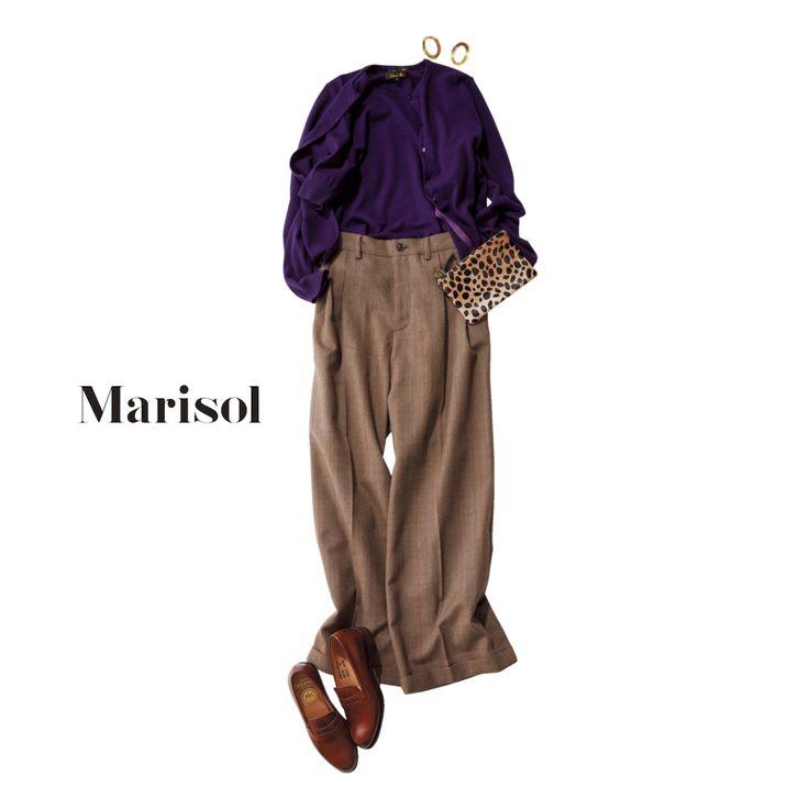 コンサバなお仕事服と言えばアンサンブル、今年選ぶなら断然パープルMarisol ONLINE|女っぷり上々!40代をもっとキレイに。