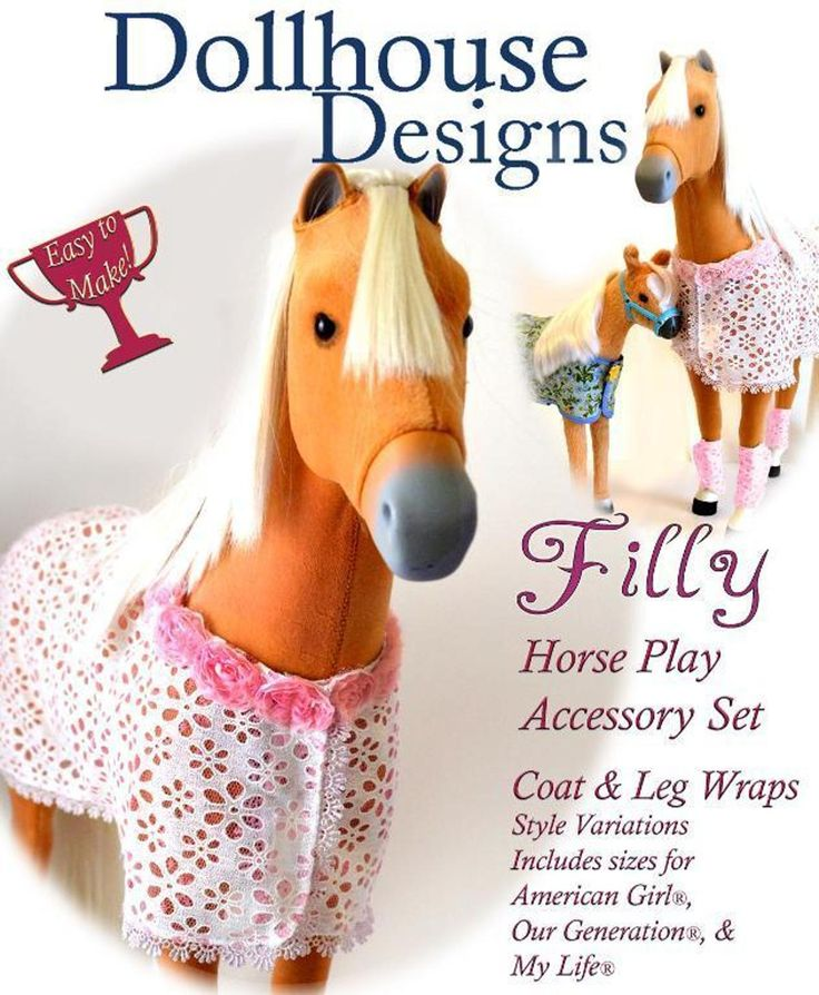 Filly Horse Set for American Girl Horses by Dollhouse Designs | Craftsy fits Our Generation