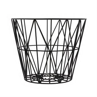 Wire basket black - medium 50x40 cm - Ferm Living
