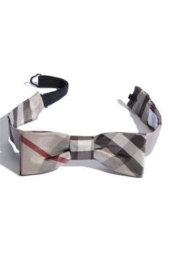 Burberry bow tie for boys - dressing up for the holidays