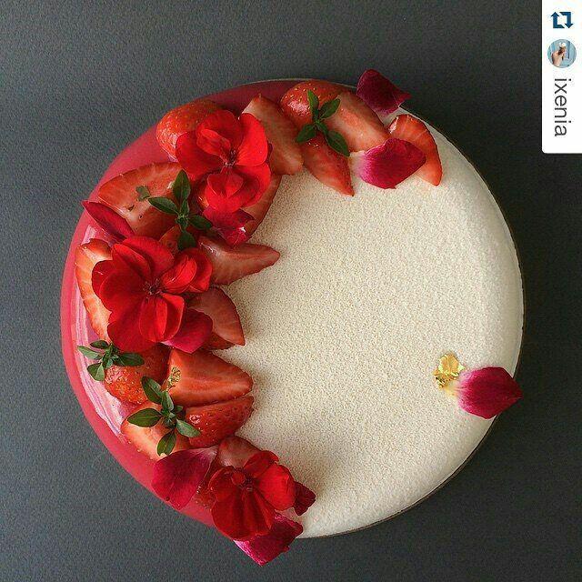 Elegant and simple modern cake